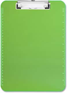 S.P. Richards Company Plastic Clipboard with Flat Clip, 9 x 12 Inches, Neon Green (SPR01867)