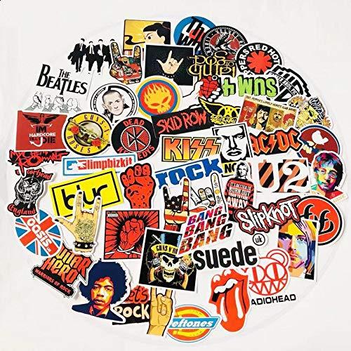 Rock En Roll Muziek Retro Band Stickers Nirvana Graffiti Jdm Gitaar Motorfiets Laptop Bagage Skateboard Sticker 52 stks