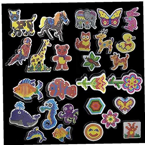 Lankater 6pcs Puzzle Tableros Patrones Plantillas con Plástico De Pinzas De 5 Mm De Hama Beads 3D Puzzle Juguetes para Los Niños