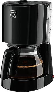 Melitta Enjoy 1017-02, filtre kahve makinesi, cam sürahili, AromaSelector, siyah filtreli kahve makinesi, plastik, 1,2 litre