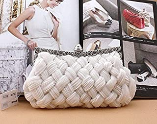 iBag's Hot spring Evening bag weave clutch bags woman handbag Silk Elegant Dinner Ladies' Bag Evening Bag High-grade Handbag