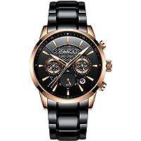 CRRJU Men's Chronograph Quartz Waterproof Wristwatch (Several Colors)