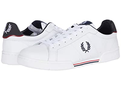 Fred Perry B722 Leather (White/Navy) Men
