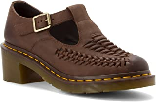 Dr. Martens Women`s Mindy Mary Jane T Bar Brown