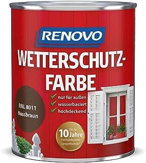 Renovo Wetterschutzfarbe Nussbraun 8011, 750 ml