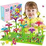 ATCRINICT Blumengarten Spielzeug für 3-6 Jährige Mädchen DIY Bouquet Sets für Kinder Blume Bausteine, Kunst Blumenarrangement Geschenk für Mädchen und Jungen (171PCS)