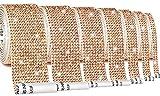 7 Rolls Self-Adhesive Crystal Rhinestone Diamond Ribbon 6.3 Yards Diamond Bling Ribbons Wrap Glitter DIY Decoration Stickerfor Arts Crafts, DIY Event Car Phone Decoration (Champagne)