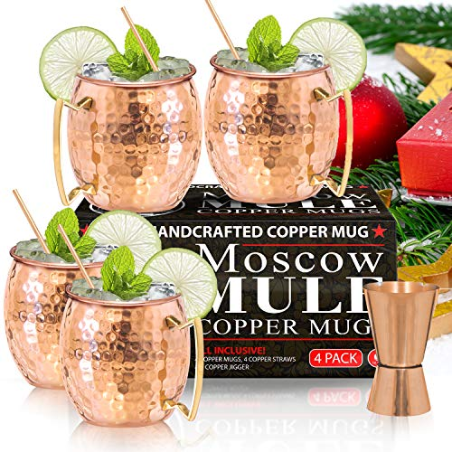 Moscow Mule Copper Mugs - Set...