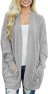 Womens Cardigans Long Cardigan Pockets Large Size Knitting Sweaters