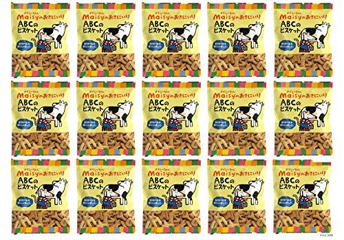 メイシーちゃんのおきにいり ABCのビスケット 40g×15個セット○対象年齢(目安):1才頃から。★ 宅配便 ★ 国内産牛乳で生地を練り込み、アルファベットの形に焼き上げました。英語の勉強をしながらメイシーちゃんと楽しいおやつタイム!★賞味期間:製造日よ