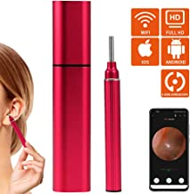 CrazyFire Wireless Otoscope, Newest 3.9mm Ear Endoscope Wax Removal Tool, HD WiFi Otoscope with 6 LED Lights, Digital Ear Inspection Camera for Android Smart Phones/iOS Device