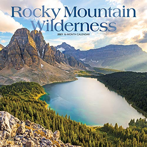 Rocky Mountain Wilderness 2021 12 x 12 Inch Monthly Square Wall Calendar with Foil Stamped Cover, USA United States of America Scenic Nature