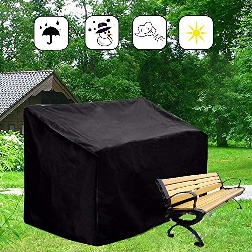 ZZYE tuinbank-afdekking, waterdicht, zitbank, ademend, Oxford-stof, zwart