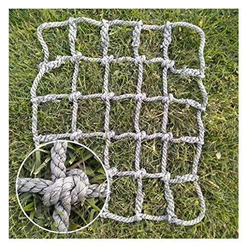 Red de escalada Heavy Duty, red de cuerda red de escalada pared de escalada para niños parque juegos Rock Swingset árbol Playset escalera Playsets set columpio malla de nylon grande bambú