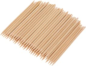 Anself 100PCS Nail Art Wood Sticks Wooden Cuticle Remover Pusher Manicure Pedicure Tool Disposable