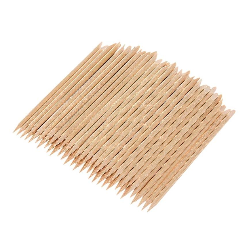 船形保全内部Decdeal マニキュアペディキュアツール 100ピース ネイルアート 木材 スティック 木製 使い捨て
