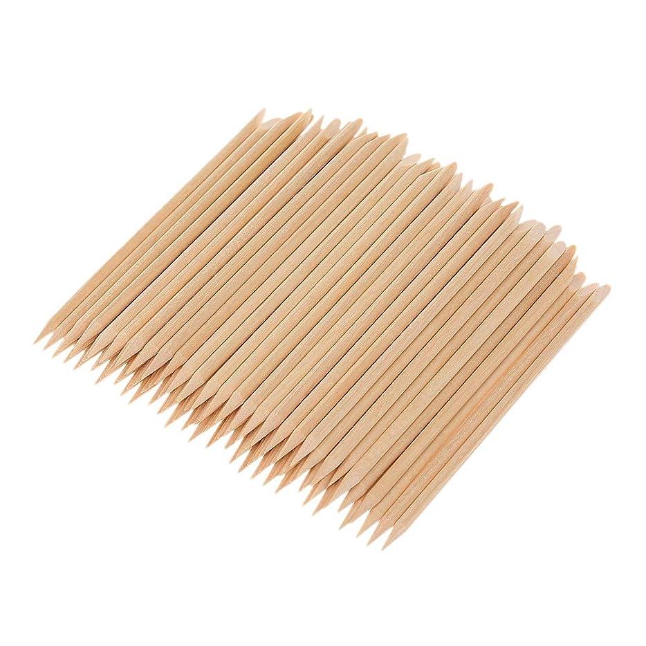 クレジットいくつかの隠Decdeal マニキュアペディキュアツール 100ピース ネイルアート 木材 スティック 木製 使い捨て