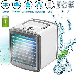 Lyeiaa 3 en 1 - Enfriador de aire portátil para refrigeración y humidificar ventilador multifunción para el hogar y la oficina