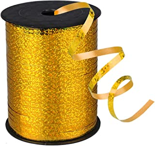 500 Yards Shiny Balloon Ribbons for Party Florist Flowers Wrapping Gift Box Cards Balloons Decoration (Gold)
