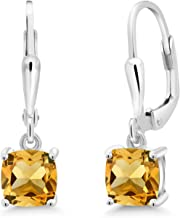 Sterling Silver wire wrap Gemstone Cluster Earrings pyrite carnelian citrine peridot topaz orange pink green yellow gift for her 5097
