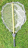 KUFA Retractable Aluminum Landing Net with PVC Mesh (Hoop:20'x16',Handle:28')