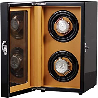 ZFF Double Automatic Watch Winder for 2 Watches, Vertical Tower Automatic Watch Box with Quiet Motor & 5 Rotation Modes