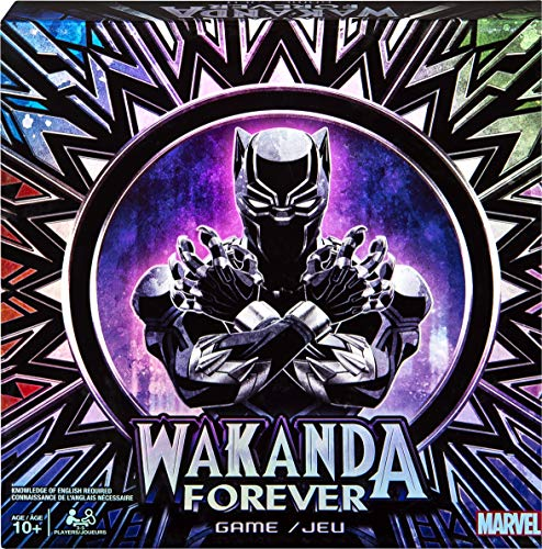 Marvel Wakanda Forever, Black Panther Dice-Rolling Game for Families, Teens and Adults