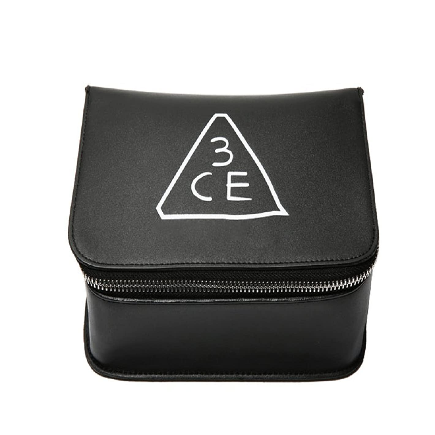 ショルダー紫の注入3CE(3 CONCEPT EYES) COSMETIC BOX POUCH 化粧品 BOXポーチ stylenanda 婦人向け 旅行 ビッグサイズ[韓国並行輸入品]