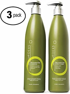 Hair Growth Shampoo and Conditioner - Enriched with Vitamin A & Keratin, Thickens Hair & Prevents Breakage - Nourishing Moisturizer for Healthy, Fuller Hair - 13.5oz (3 Pack)