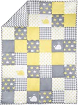 Baby Blanket for Newborn Kids - Whale Print Toddler Stroller Quilt Cotton Soft Crib Comforter - Pale Yellow - 38 X 50 Inch