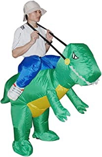 SALVATORE ANGELOTTI Dino Fancy Dress Inflatable Suit - Fan Operated Costume * One-Size-Fits-All with Compact Fan Unit and ...