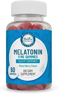 Nature's Instincts Melatonin 5 mg Gummies for Sleep Support (Mixed Berry Flavored) | Natural Sleep Aid | Vegan & Gluten-Fr...