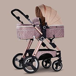 2-i-1 barnvagn och barnvagn med vändbart styre, lätt högt landskap barnvagnar hopfällbar buggy-f