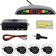 $56 » Vehicle Radar Detector 4 Sensors Car LED Parking Sensor Detector System Display Car Reverse Radar Monitor Backup Parking f...