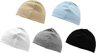 Betty Dain Jersey Knit 5 Piece Infant/Baby Cap, Grey/White/Black/Beige/Blue