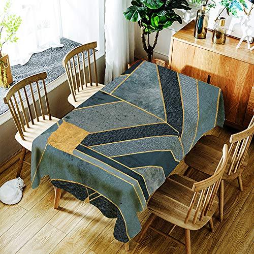 Brandless Mantel Impreso Digital Rectangular Tejido de poliéster Mantel Impermeable Cubierta de Mesa de Tela Decorativa para Uso Exterior e Interior