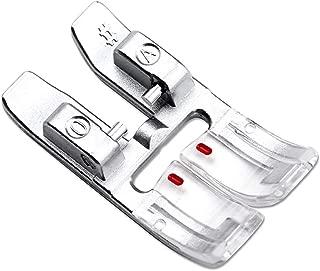 DREAMSTITCH 98-694828-00 Snap On 9mm Zig Zag Presser Foot with IDT for Pfaff Sewing Machine #820773-096,#820244096