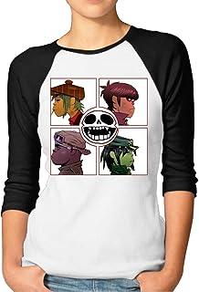 ZYXcustom Women's Gorillaz Demon Days 3/4 Sleeves Baseball T-Shirts