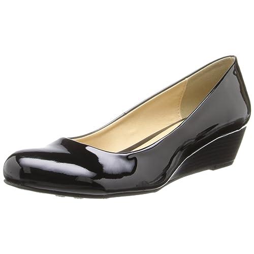 7ce141e85aa60 1.5 Inch Black Wedge Shoes: Amazon.com