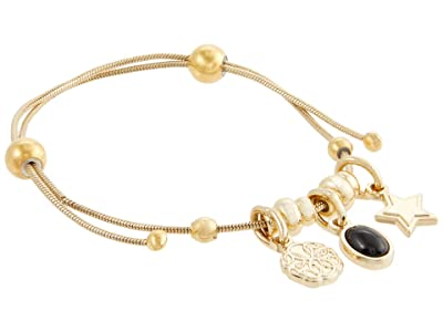 Alex and Ani Path Of Life and Onyx Expandable Bracelet (Shiny Gold) Bracelet