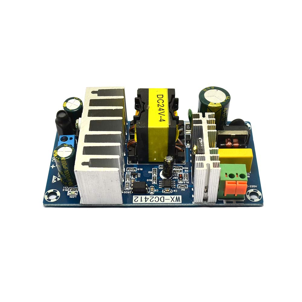 AC to DC 24V Power Converter Module 4A 100W Switching Power Supply Board AC 90-265V Variable Input with Indicator Industrial Grade Switch Power Supply