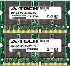 A-Tech 1GB KIT (2 x 512MB) for Apple PowerBook Series G3 (500Mhz) G4 1Ghz (15-Inch) (SDRAM) G4 1Ghz (Titanium) G4 500Mhz (Titanium) G4 550Mhz (Titanium) G4 SO-DIMM SD Non-ECC PC133 133MHz RAM Memory