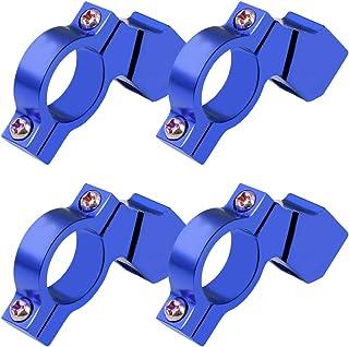 Garneck 4 peças de suporte para guidão de motocicleta, espelho, extensor, adaptador retrorrefletor, suporte de extensão azul