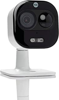Yale sv-Dafx-W all-In-One outdoor wifi camera, 1080P, live view, motion detection,Two way talk, siren, flood ligit, white