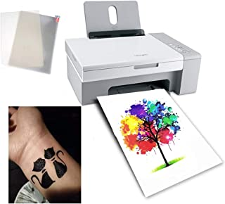 10 Sheets A4 Temporary Tattoo Transfer Paper Printable Waterproof Transfer Paper DIY Customized for Laser Printers and UV ...