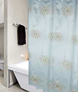United Linens Sequin Embroidery shower curtain peony Collection