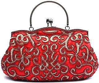 IRVING Women Wallets Fashion Clutch Purses,Evening Bag Handbag (Color : Red)