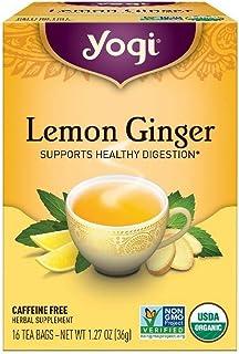 Yogi Tea Lemon Ginger Tea Bags 16 ea ( pack of 2)