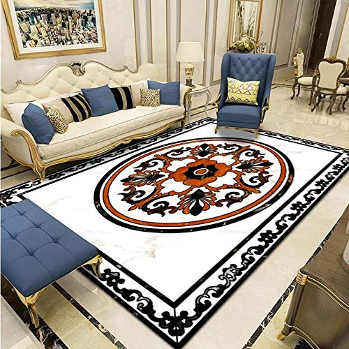 European Style Carpet Simple Classical New Chinese Style Living Room Coffee Table Cushion Bedroom Bedside Large Area Carpet Can Be Washed