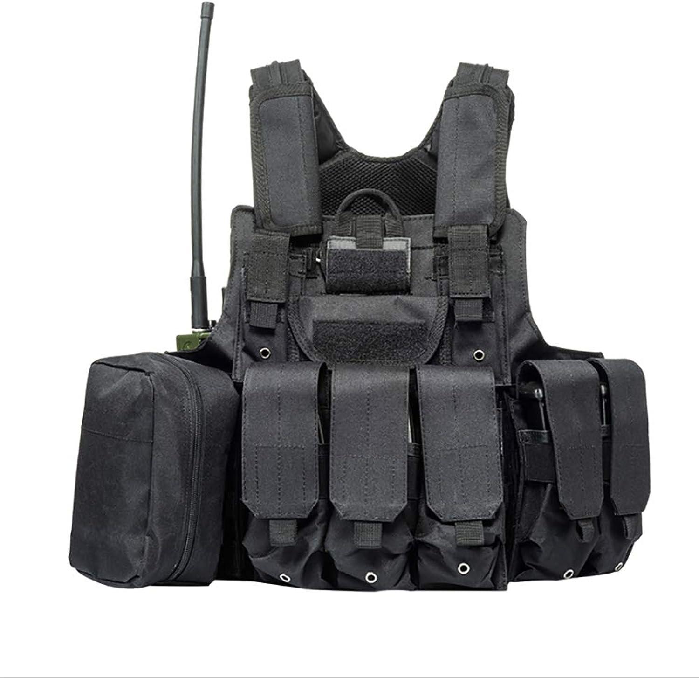 Gocher Weste für Airsoft Jagd CS Military MOLLE Weste Mehrzweck-Spezialeinheiten Protective Combat Tactical Vest mit Molle Pouch